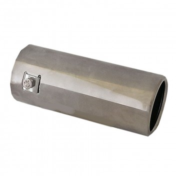 Image for 76mm Straight Stainless Steel Exhaust Trim
