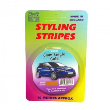 Image for 6mm Styling Stripe - Pin Gold - 10m