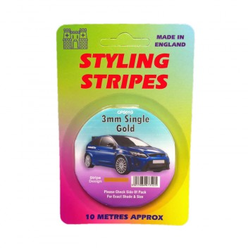 Image for 3mm Styling Stripe - Pin Gold - 10m