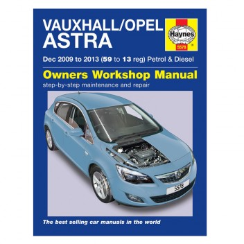 Image for Vauxhall/Opel Astra Haynes Repair Manual (Dec 09 - 13)