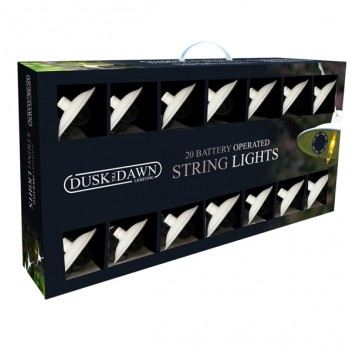 Image for Dusk Till Dawn 20 Indoor White String Lights