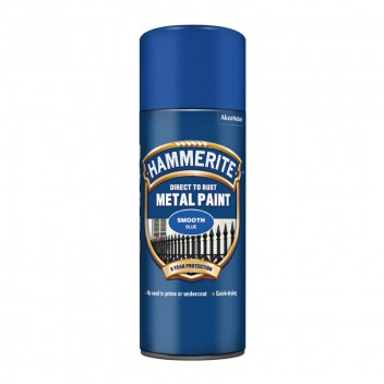 Image for Hammerite Metal Paint - Smooth - Blue - 400ml Aerosol