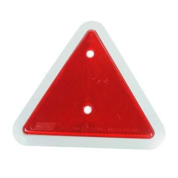 Image for Rear Reflective Trailer Triangle - White Surround