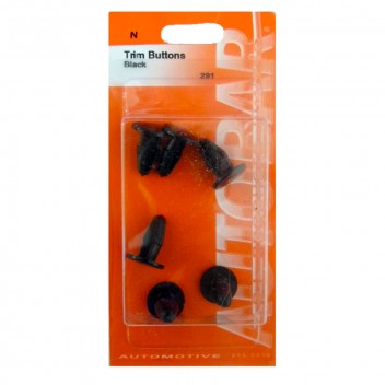 Image for Trim Buttons - Black - Pack 4