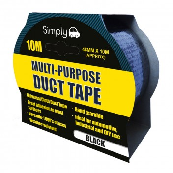 Image for Multi-Purpose 10m Duct Tape - Black