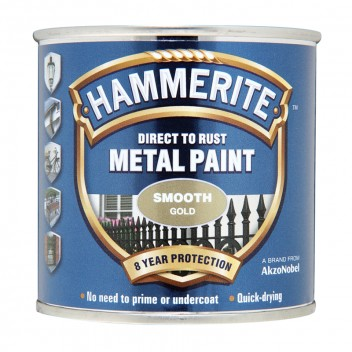 Image for Hammerite Metal Paint - Smooth - Gold - 250ml