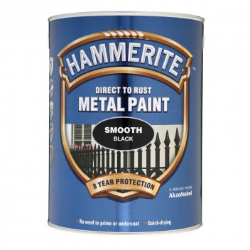 Image for Hammerite Metal Paint - Smooth - Black - 5 Litres