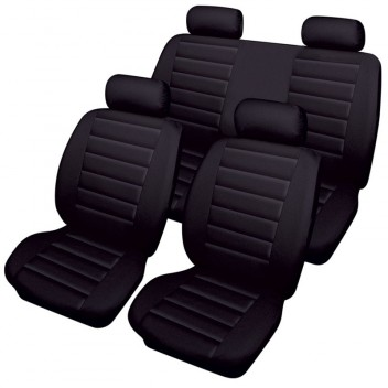 Image for Cosmos Leather Look Car Seat - Black Set