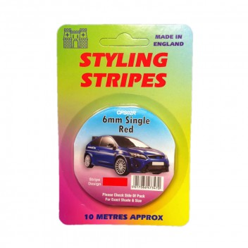 Image for 6mm Styling Stripe - Pin Red - 10m