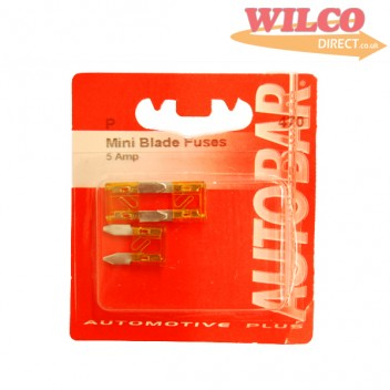 Image for Mini Blade Fuses 5 Amp - Pack 3