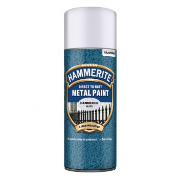 Image for Hammerite Metal Paint - Hammered - Silver - 400ml Aerosol