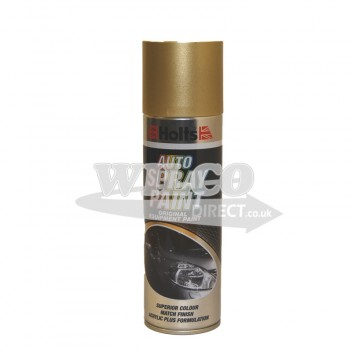 Image for Holts Light Gold Metallic Spray Paint 300ml (HLGOLM01)