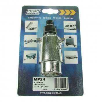 Image for Trailer Plug - Aluminium - 12v