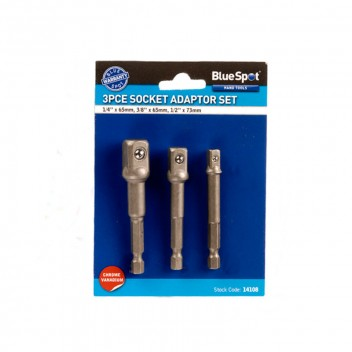 Image for Bluespot 3 Piece Drill to Socket Adaptor Kit