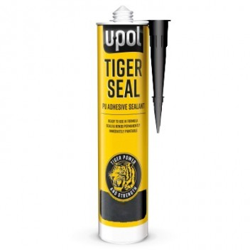 Image for U-Pol Tigerseal - PU Adhesive Sealant - Black - 310ml Cartridge