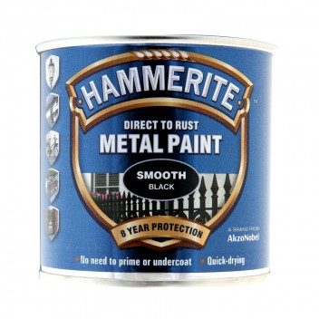 Image for Hammerite Metal Paint - Smooth - Black - 250ml