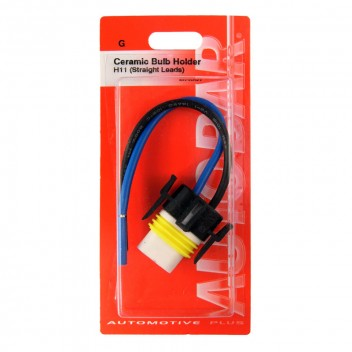 Image for H11 Ceramic Bulb Holder - Straight Leads