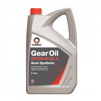 Image for Comma SX75W-90 Semi-Synthetic Gear Oil - 5 Litres