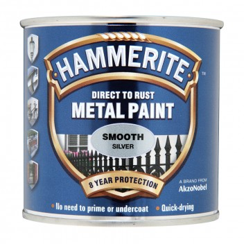 Image for Hammerite Metal Paint - Smooth - Silver - 250ml