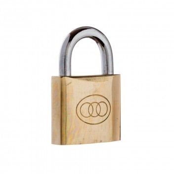Image for Tri-Circle Brass Padlock 264/38mm