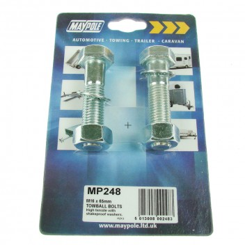 Image for Towball Bolts - M16 x 65mm - Pair of 2