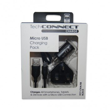 Image for TechConnect Micro USB Charging Kit - Black