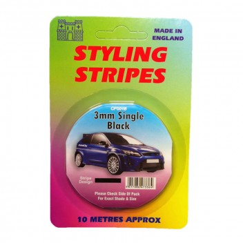 Image for 3mm Styling Stripe - Pin Black - 10m
