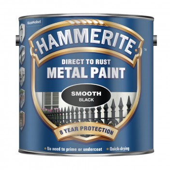 Image for Hammerite Metal Paint - Smooth - Black - 2.5 Litres