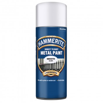 Image for Hammerite Metal Paint - Smooth - Silver - 400ml Aerosol
