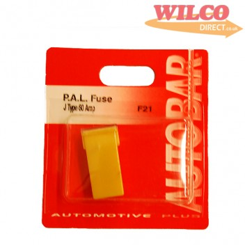 Image for Pal Fuse J Type 60 Amp - Yellow