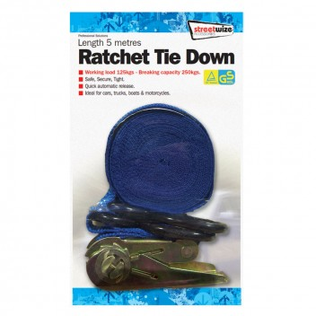 Image for 5 Metre Ratchet Tie Down with Hooks