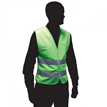 Image for High Visibility Fluorescent Green Reflective Safety Vest