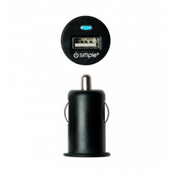 Image for iSimple 2.4A USB Port Fast Car Charger - Black