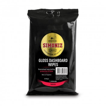 Image for Simoniz Black - Gloss Dashboard Wipes 20 Pack