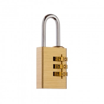 Image for Tri-Circle Brass Combo Padlock T3501 20mm