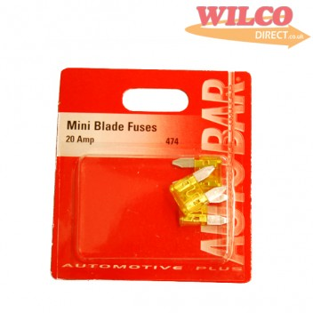 Image for Mini Blade Fuses 20 Amp - Pack 3