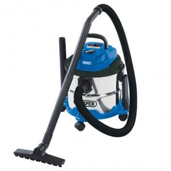 Image for Draper Wet & Dry Vaccum Cleaner - Stainless Steel Tank - 15L/1250W