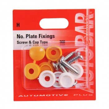 Image for Number Plate Fixings - Screw/Cap Type