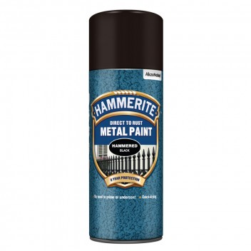 Image for Hammerite Metal Paint - Hammered Finish - Black - 400ml Aerosol