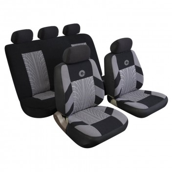 Image for Universal Seat Covers - Full Set - Grey Black