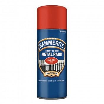Image for Hammerite Metal Paint - Smooth - Red - 400ml Aerosol