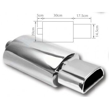 Image for Exhaust Back Box Trapezoid Stainless