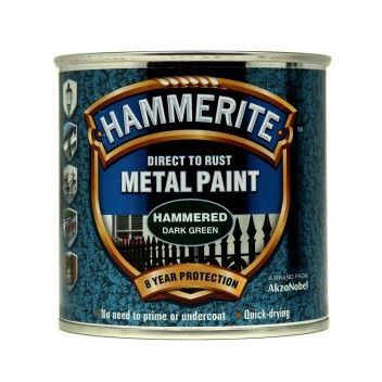 Image for Hammerite Metal Paint - Hammered - Dark Green - 250ml