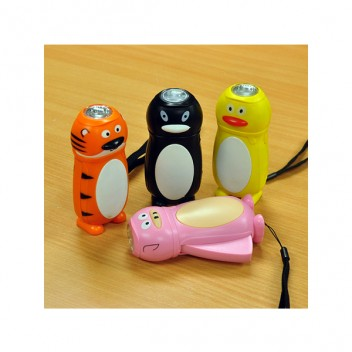 Image for Prism Animal Character Dynamo Wind Up LED Torch