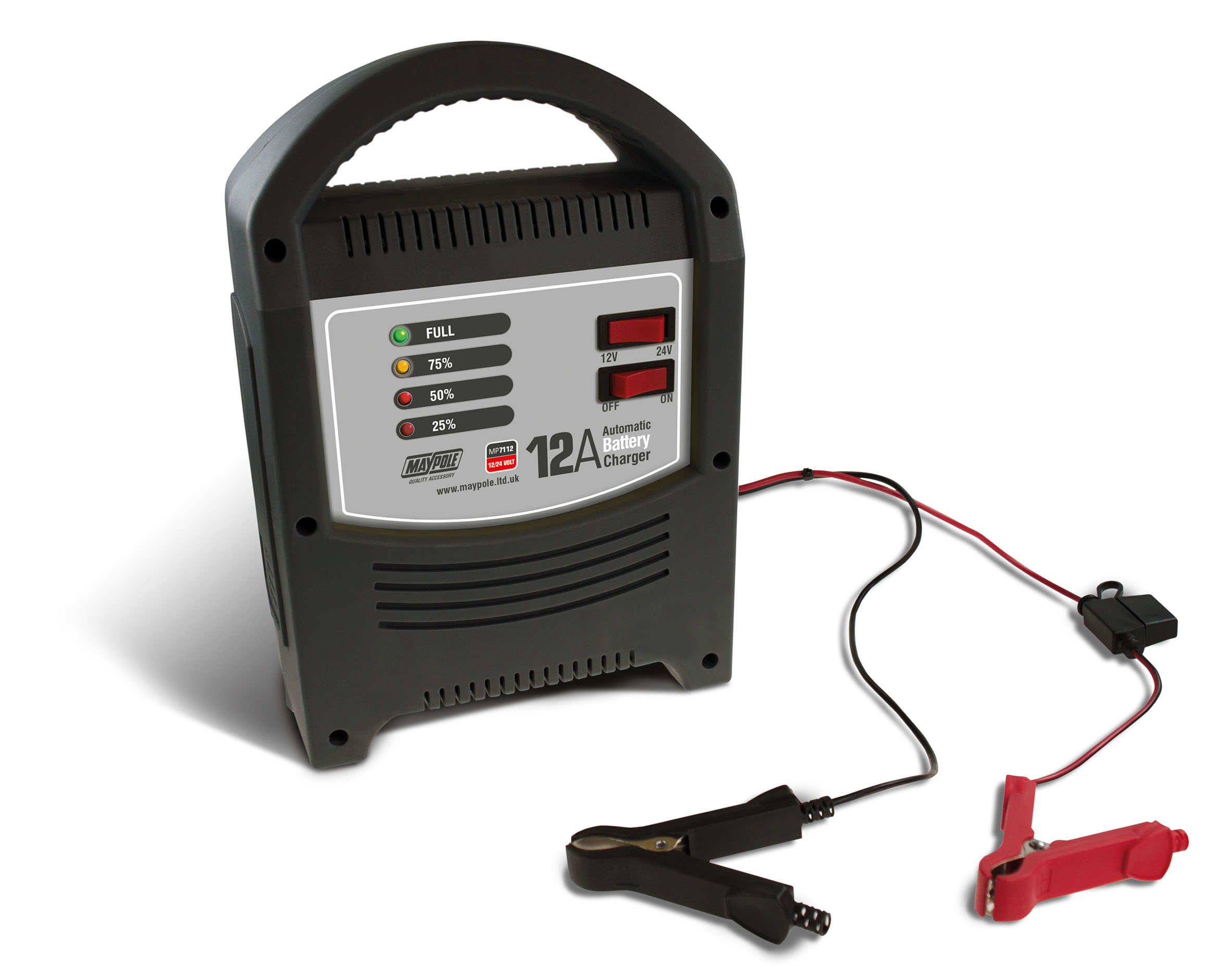 Maypole Automatic Battery Charger 12v 12a Wilco Direct